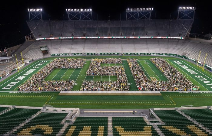 Incoming students formed CSU at football stadium