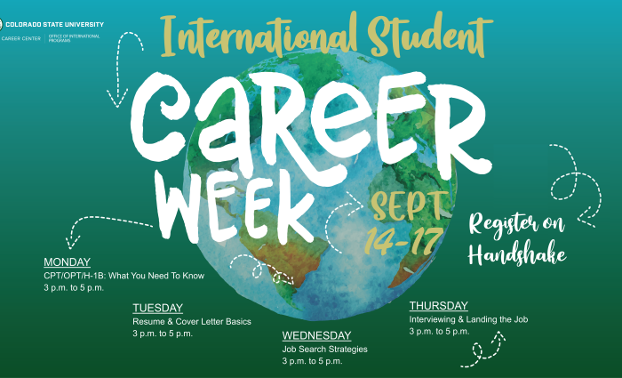 international student career week logo