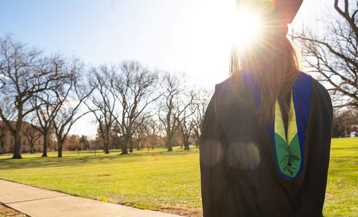 CAU grad looks into the sun