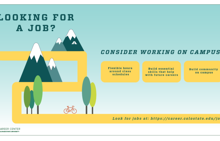 Poster to promote working on campus